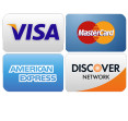 We accept Visa, Mastercard, American Express & Discover.